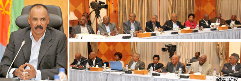 The Eritrean Cabinet of Ministers conducted a two-day meeting