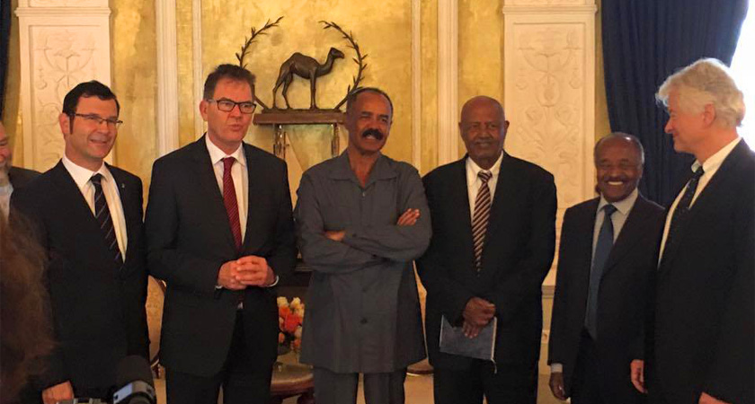 German Development Minister Meets President Isaias