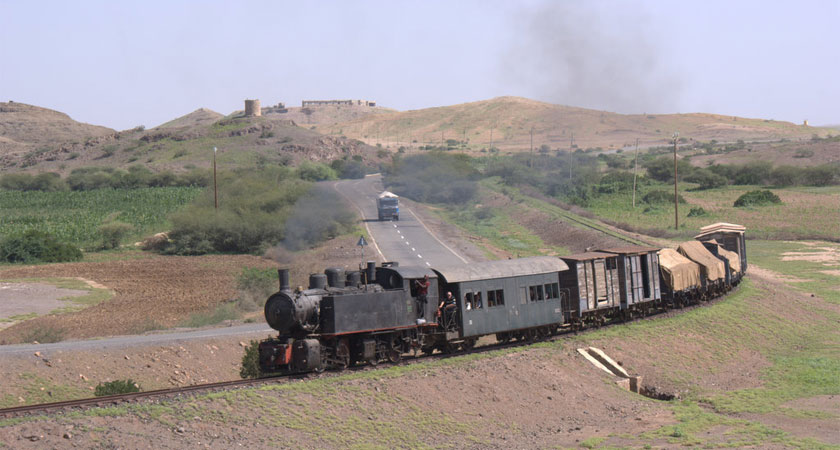 In Eritrea, steam locomotives from the Italian colonial era are still operating. The railroad routes goes over mountains and through the desert to the Red Sea.