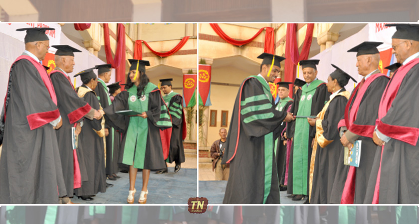 This is the 6th Commencement for Orotta School of Medicine and Dentistry - training medical doctors