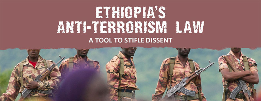 ethiopia anti-terrorism legislation criticized