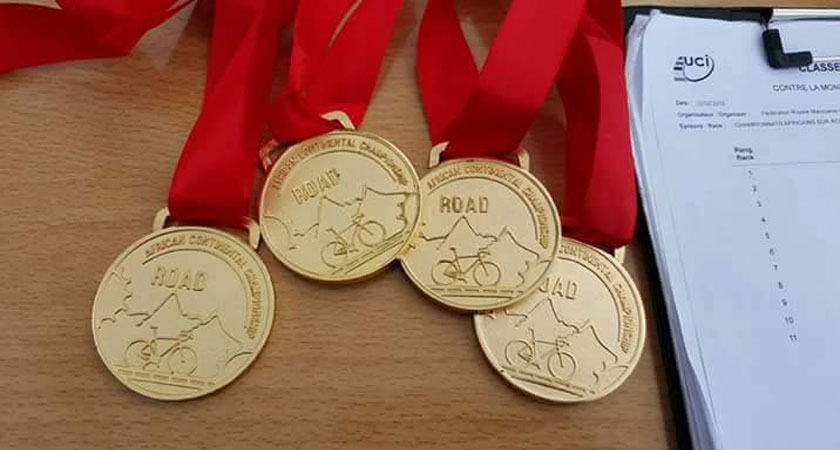 African Championship road race medals