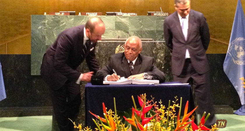 Eritrea Signed Historic Paris Climate Accord