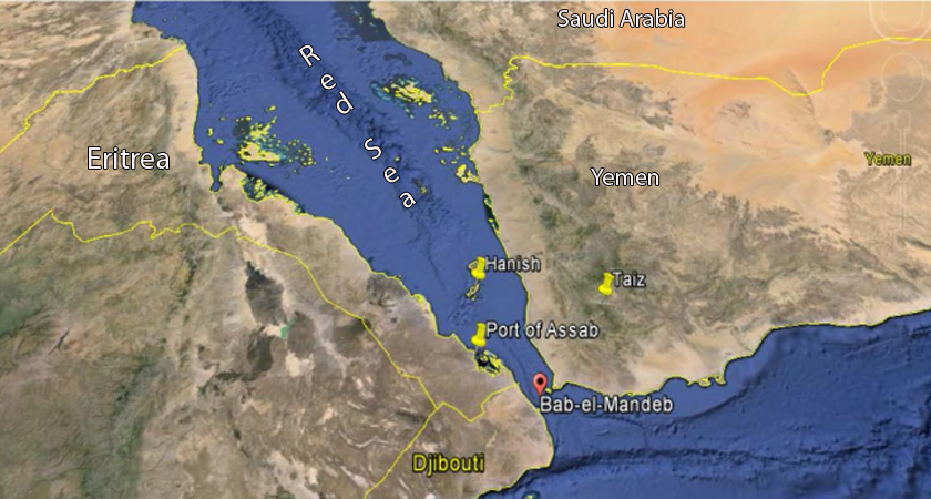 Horn of Africa, Red Sea and Bab-el-Mandeb