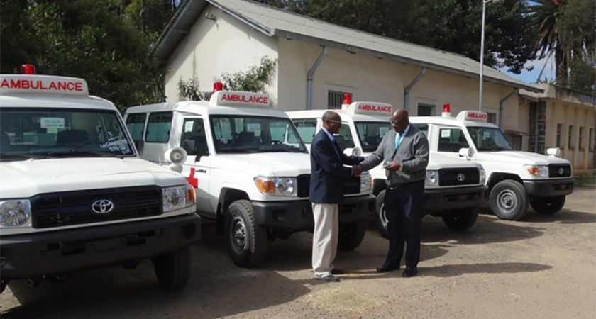 UNFPA Donates New Ambulances to Eritrea