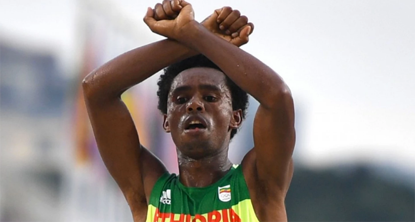 Ethiopian Feyisa Lilesa Wins Silver at Rio Olympics, Now Seeking Political Asylum