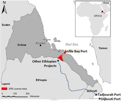 having our own export facility closer to the mine than Massawa