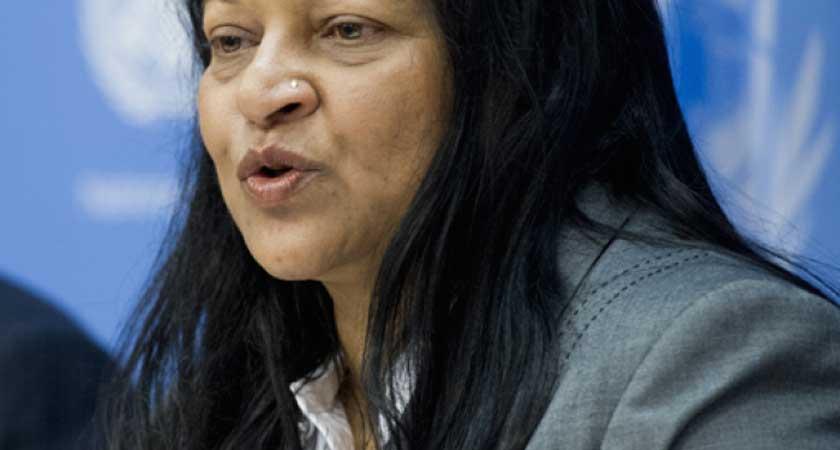 Special Rapporteur Sheila Keetharuth Shameless Lie