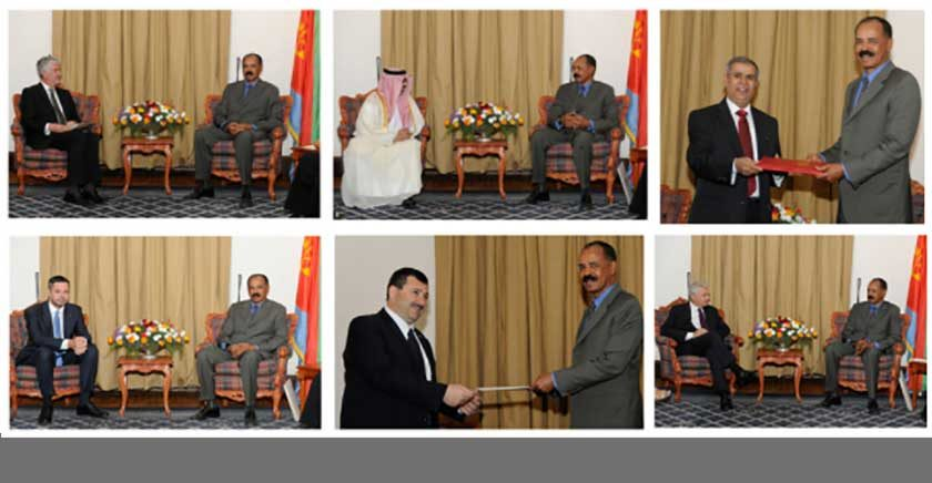 President Isaias Receives Credentials of Six Ambassadors