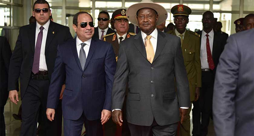 Egypt President in Uganda