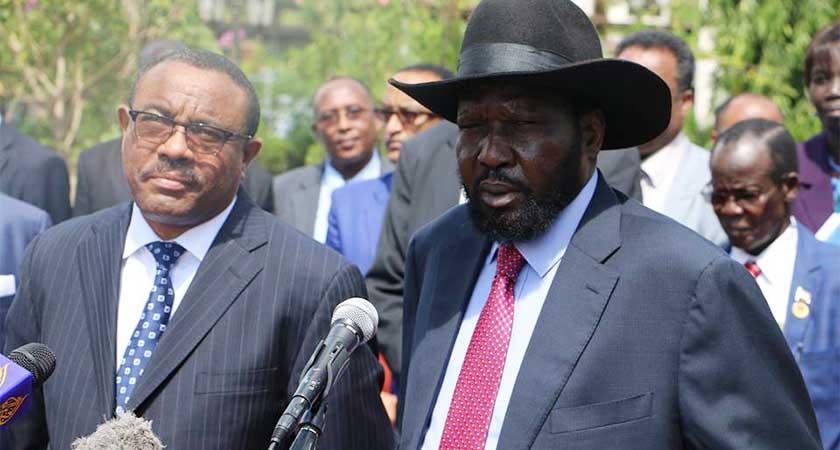 President Salva Kiir in Addis Ababa