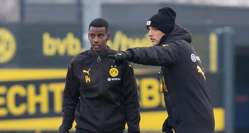 Isak moved to Borussia Dortmund in January.