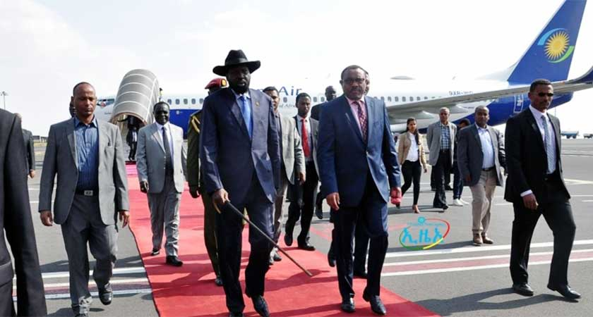 President Salva kiir in Ethiopia for Security Talks