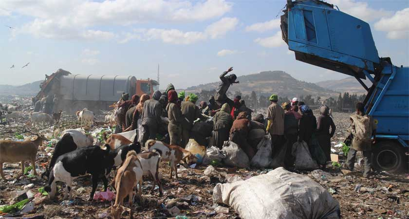 Addis Ababa's Koshe rubbish landfill where hundreds literally scratch a living