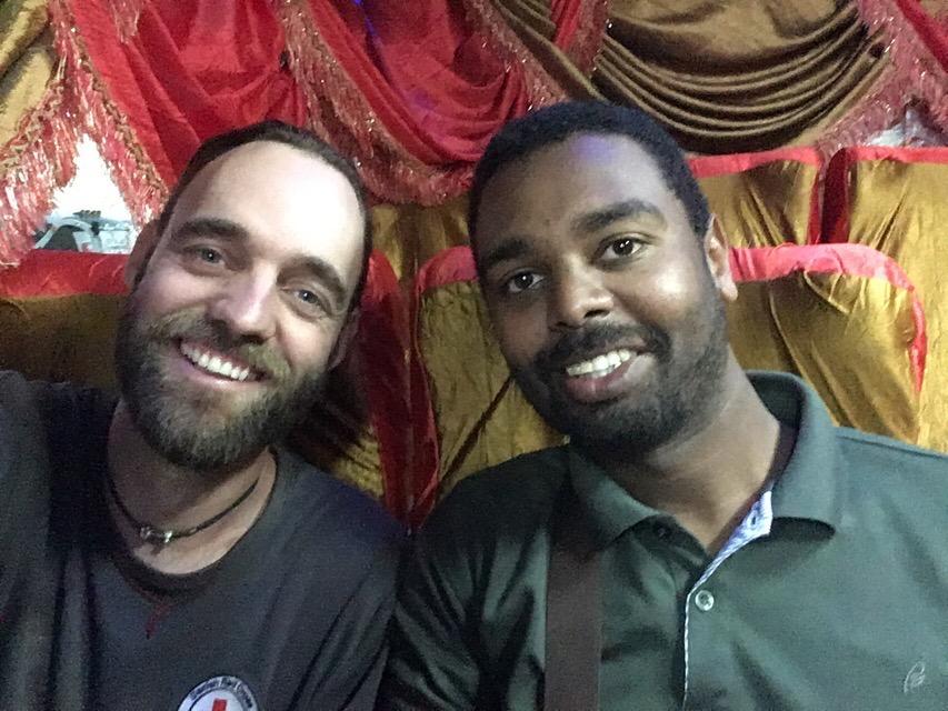 Me and Dafaalla on the way to Asmara