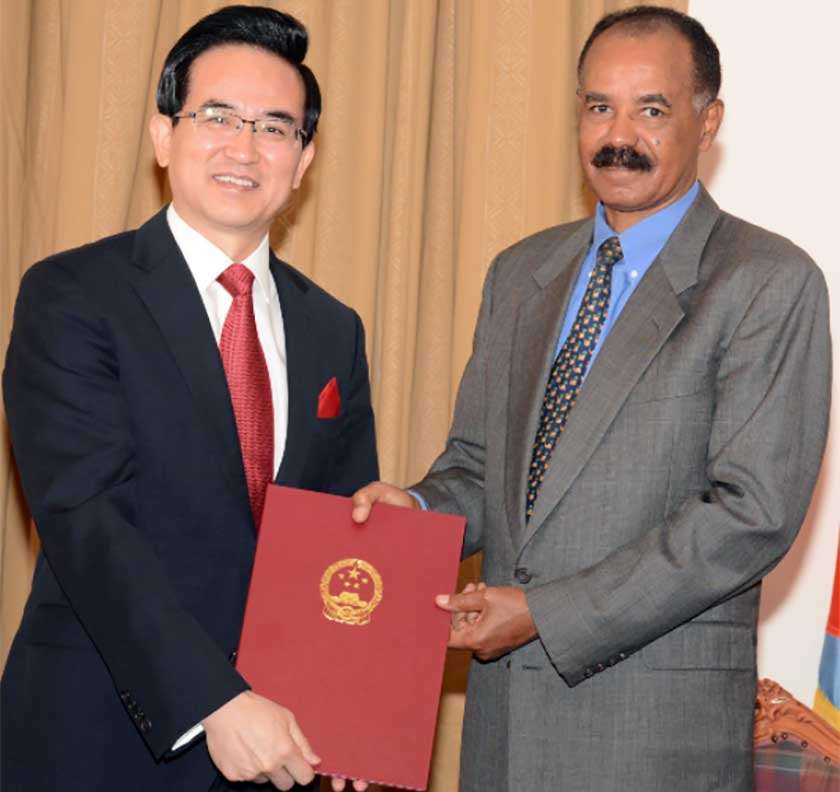 President Isaias Afwerki received credentials of 11 resident and non-resident ambassadors