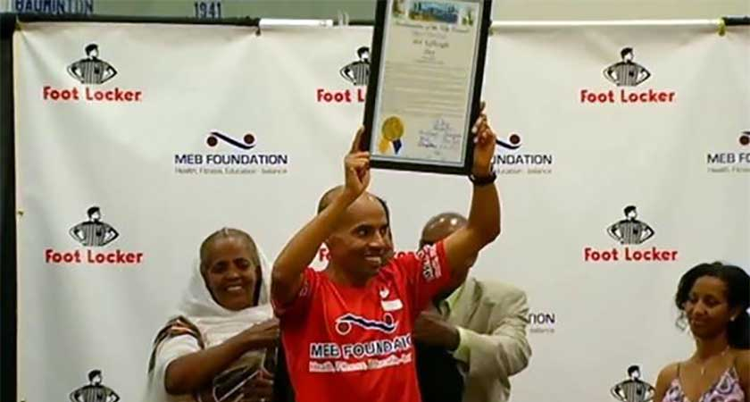 USCIS Honors Olympian Meb Keflezighi as 'Outstanding American by Choice'