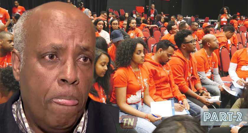 Kibrom Dafla and YPFDJ conference in Holland