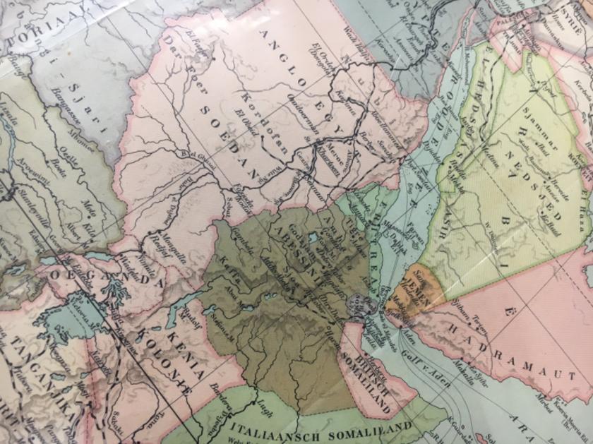 A 1921 map of Eritrea, Ethiopia, Sudan, Somalia, Djibouti