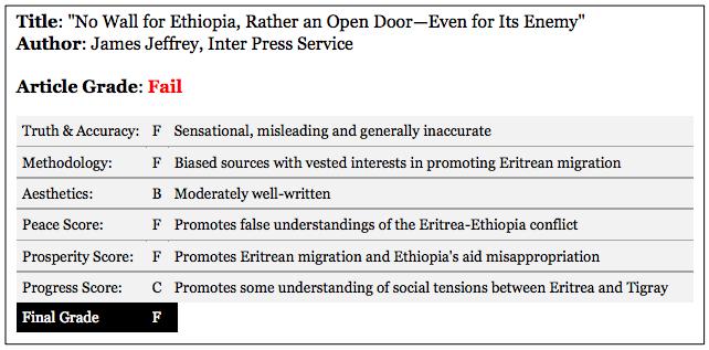 James Jeffrey's article Article review on Eritrean Migration