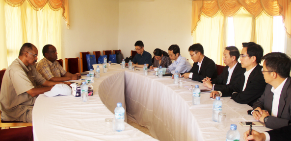 President Isaias meeting with China delegation at Sawa Military Academy