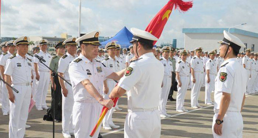 China sends military personnel to Djibouti military base.