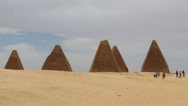 The pyramids from the Kingdom of Kush form one of the most spectacular sights in Sudan