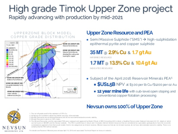 Timok upper zone project
