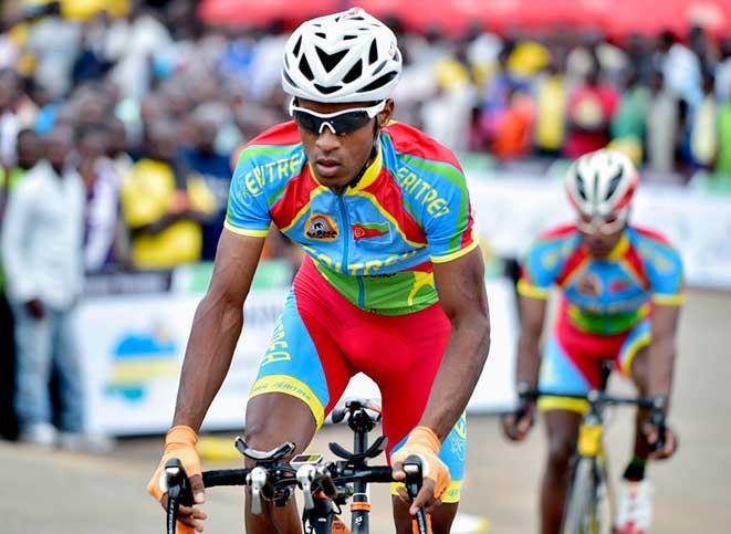 Eritrea riders at Tour of Rwanda