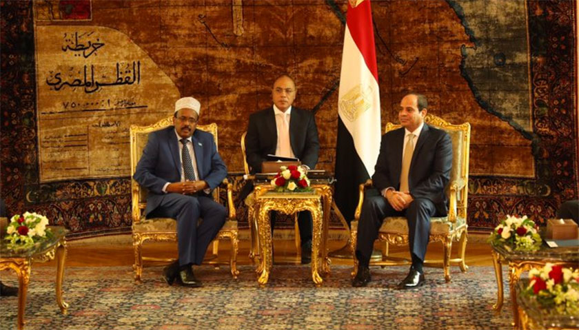 Somalia President Farmajo on his first official visit to Cairo