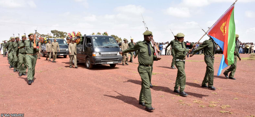 Funeral procession of veteran fighters Brig. Gen. Musa Rabea and Ms. Tsegereda Woledegergis