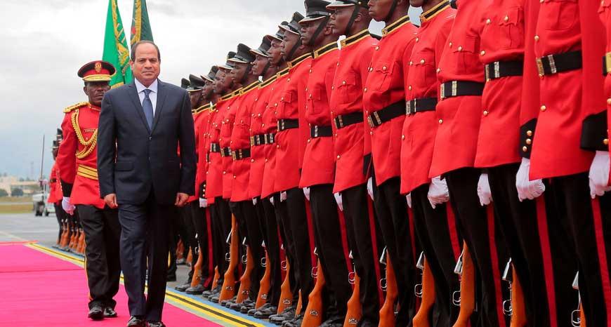 Egyptian President Abdel Fattah al-Sisi making an African tour