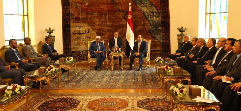 President Farmajo was accompanied by a large Somalia delegation