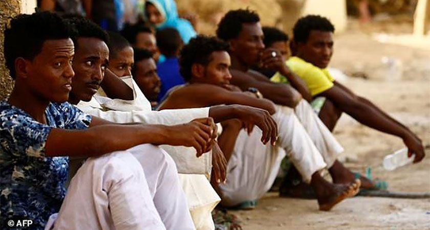 Eritrean migrants deported back