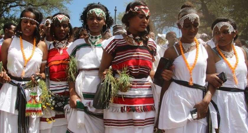 No weapon at the religious Irrecha Oromo festival