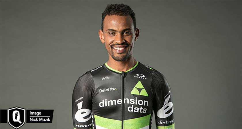Mekseb Debesay makes history by being the first ever Eritrean to finish top 10 on GC at a World Tour race