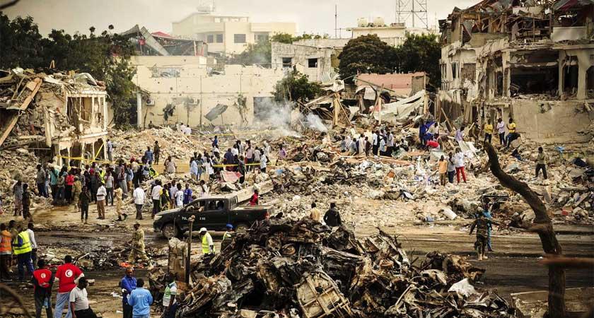 Mogadishu truck bomb attack and public response