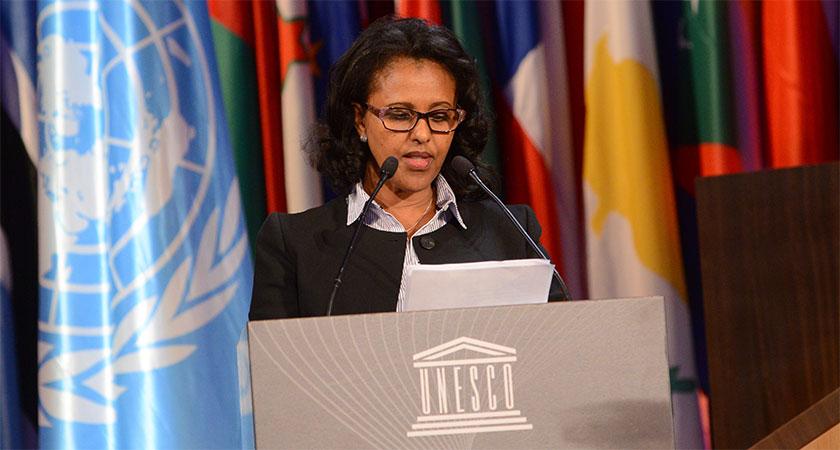 Ambassador Hanna Simon at the 39th UNESCO General Conference