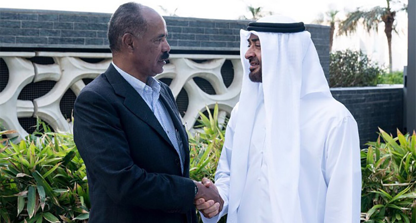 Crown Prince of Abu Dhabi Mohamed bin Zayed and President of Eritrea