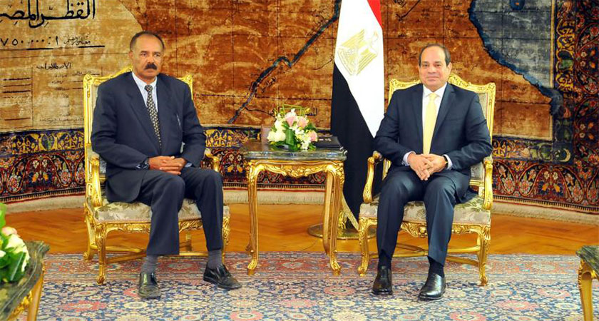 Meeting of President Isaias Afwerki with Egyptian President Abdel-Fattah el-Sisi in Cairo.