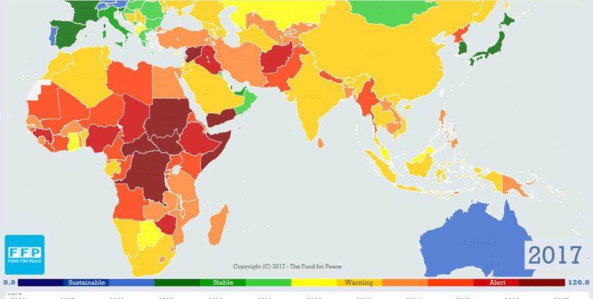 Fragile States Index: Ethiopia is Facing Failure