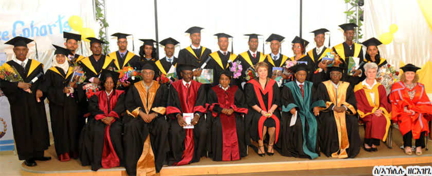 Eritrea Ministery of Health staff members graduate in Masters Degree