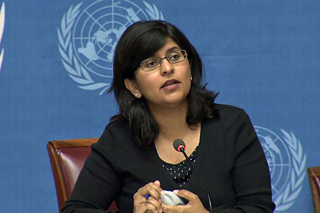 Ravina Shamsadani, Spokesperson for the Office of the UN High Commissioner for Human Rights