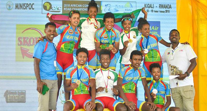 Eritrea dominates African Continental Road Championship road races