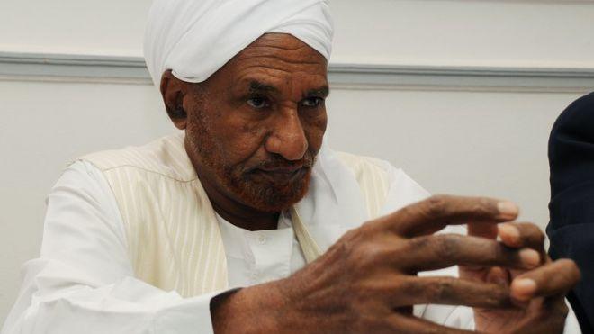 National Umma Party (NUP) leader Sadiq al-Mahdi