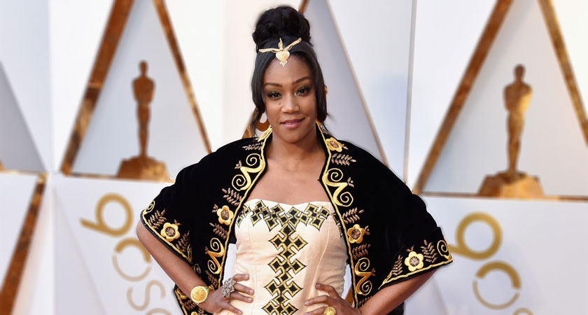 Tiffany Haddish Wears Traditional Eritrean Gown in Honor of Her Late Father to 2018 Oscars