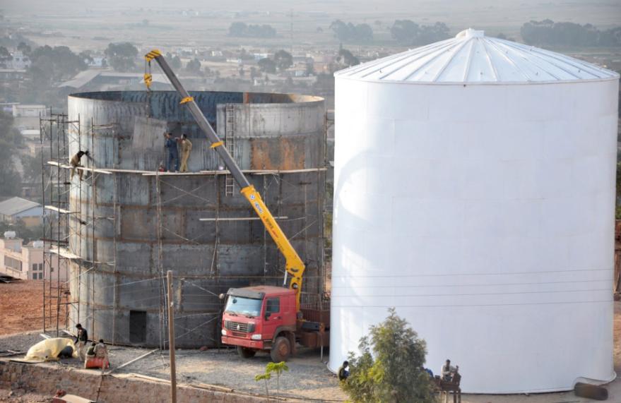 Networks of water tanks built in Asmara