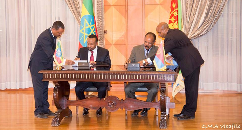 Peace between Eritrea and Ethiopia led and carried out without any mediator