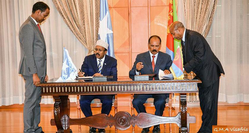 Eritrea, Somalia Signed Joint Declaration on Relations