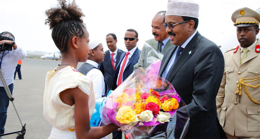 Somalia President in Eritrea for Landmark Visit